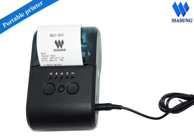Portable Mobile Type Bluetooth Thermal Printer For Android ,  2600mah Capacity Battery